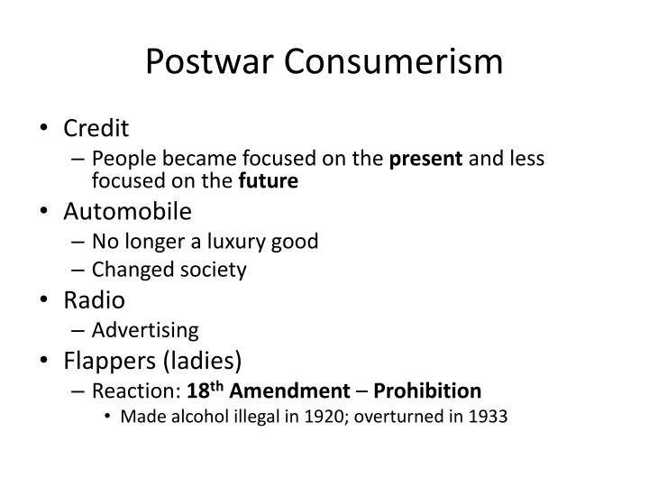 Postwar Consumerism