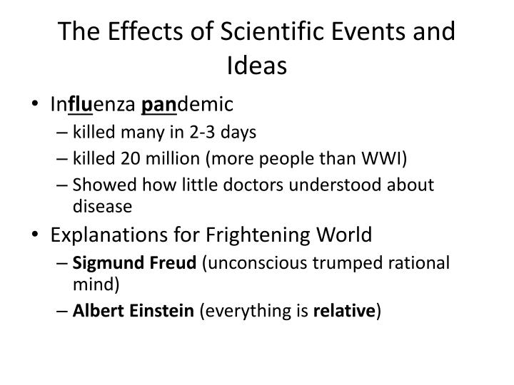 The Effects of Scientific Events and Ideas