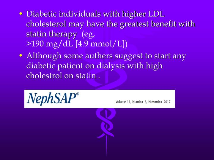 Diabetic individuals with higher