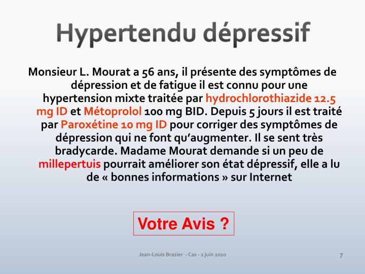 Hypertendu dépressif