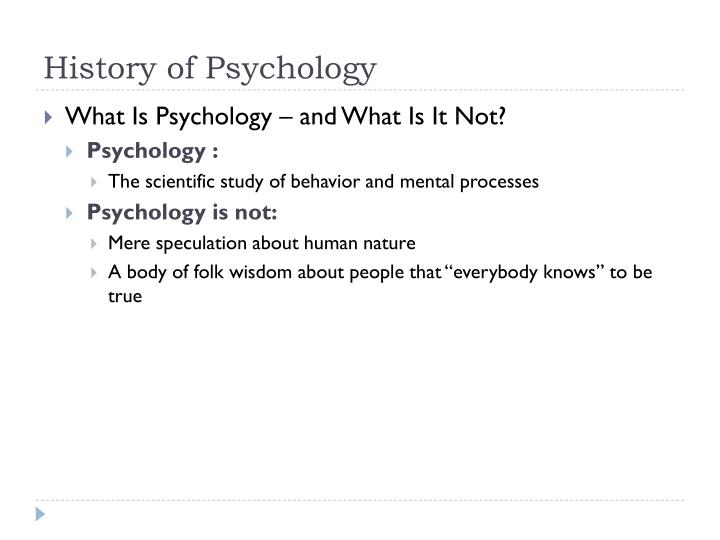 History of psychology1