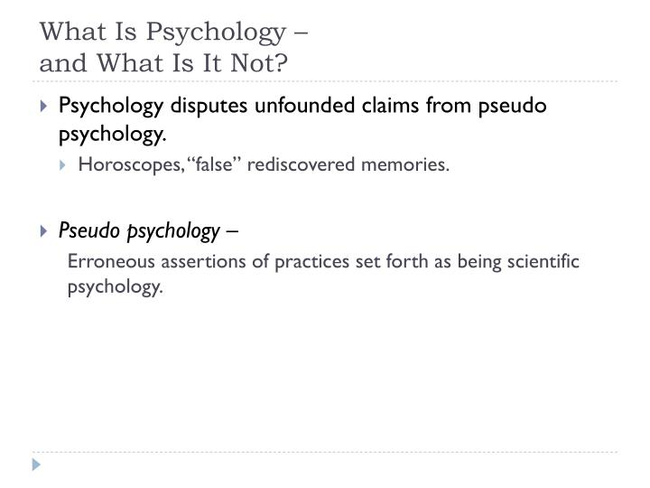 What Is Psychology –