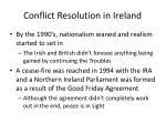 conflict resolution in ireland