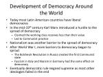 development of democracy around the world