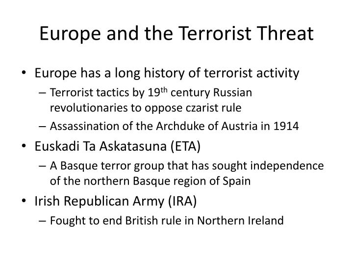 Europe and the Terrorist Threat