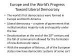 europe and the world s progress toward liberal democracy