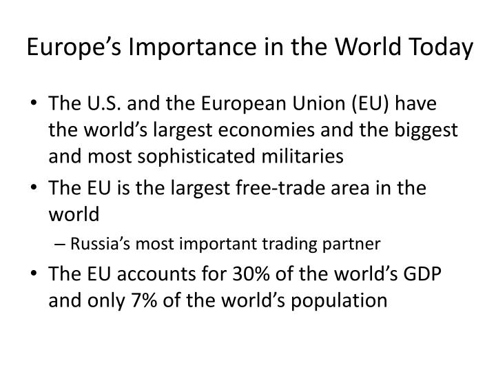 Europe's Importance in the World Today