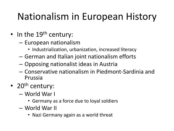 Nationalism in European History