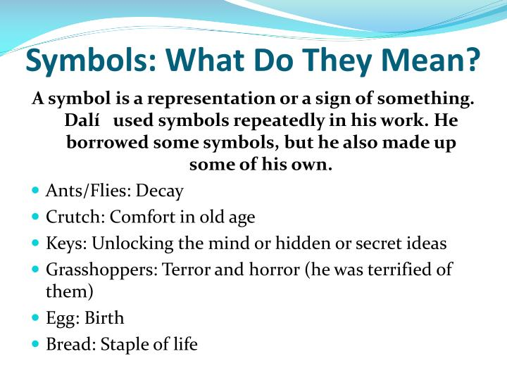 Symbols: What Do They Mean?