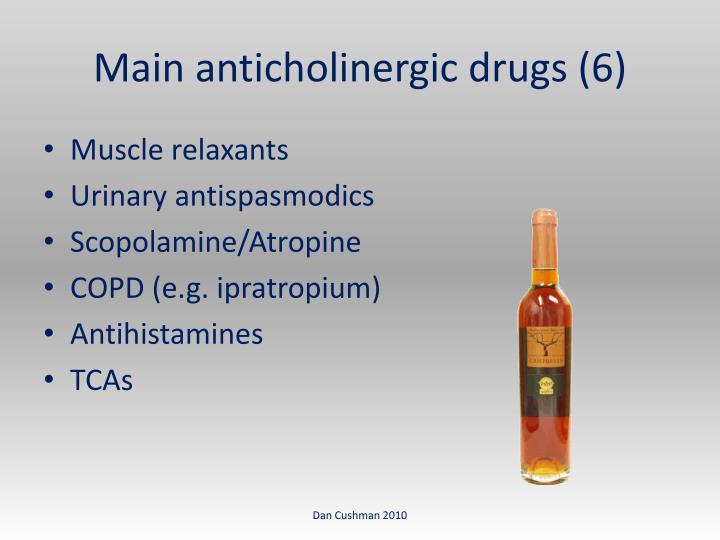Main anticholinergic drugs (6)