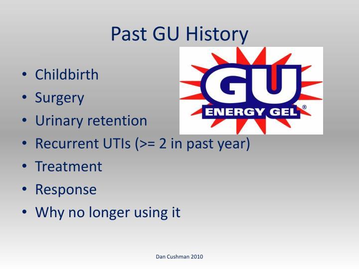 Past GU History