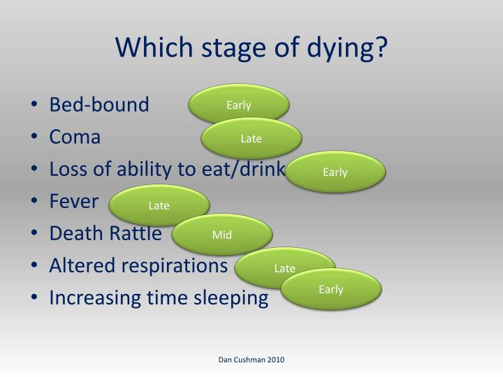 Which stage of dying?