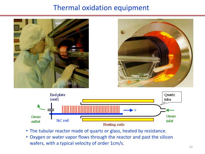 Thermal oxidation equipment