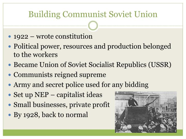 Building Communist Soviet Union