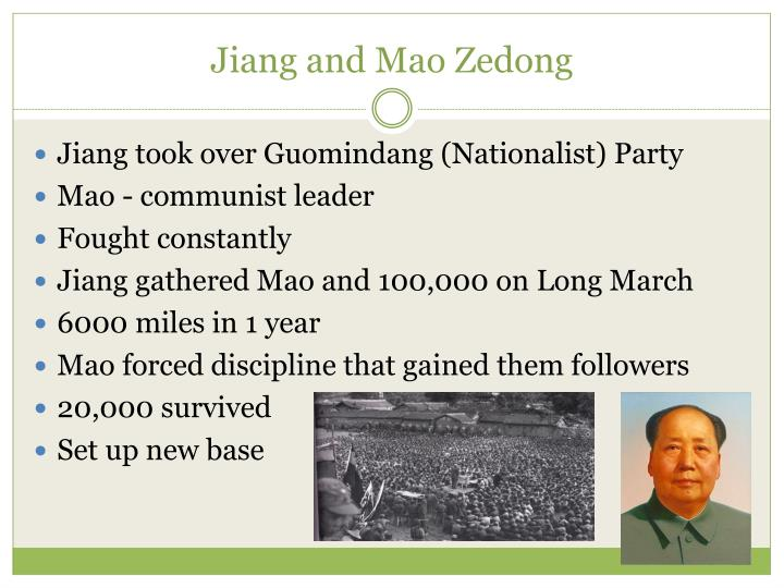 Jiang and Mao Zedong