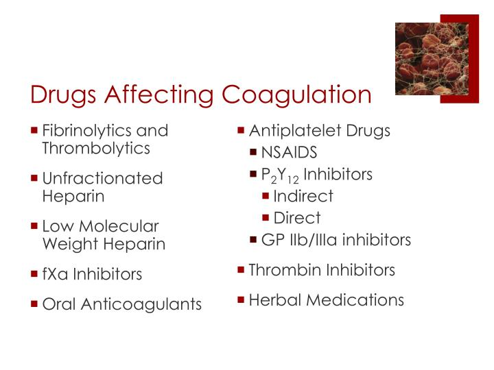Drugs Affecting Coagulation