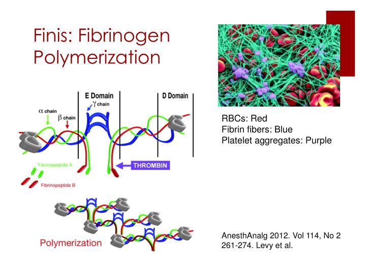 Finis: Fibrinogen Polymerization