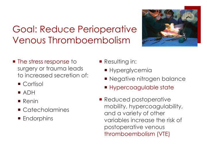 Goal: Reduce Perioperative Venous Thromboembolism