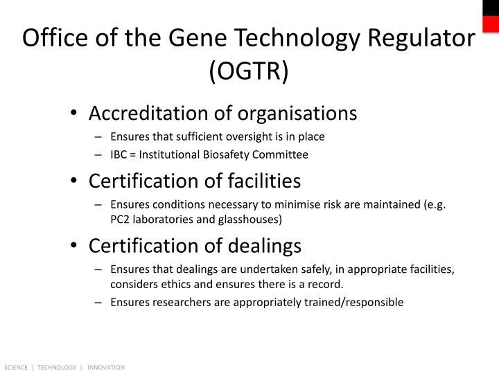Office of the Gene Technology Regulator (OGTR)