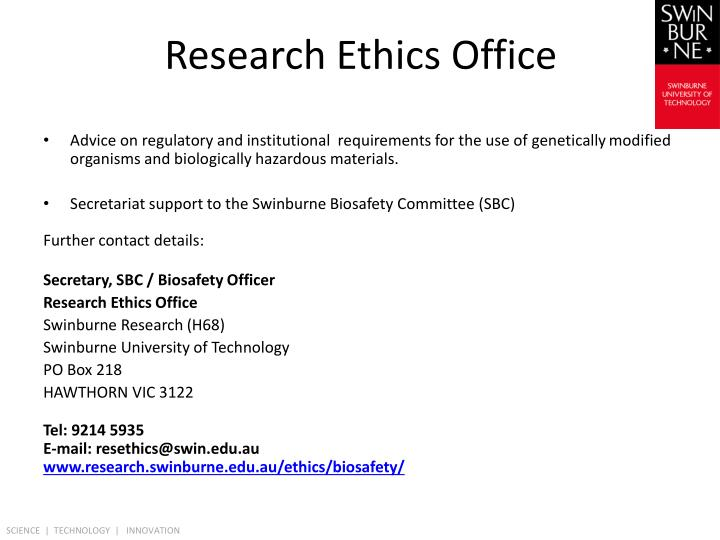 Research Ethics Office