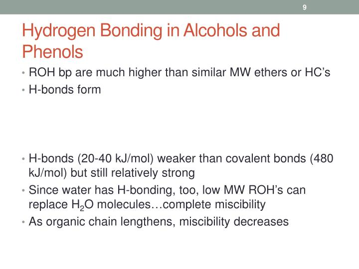 Hydrogen Bonding in Alcohols and Phenols