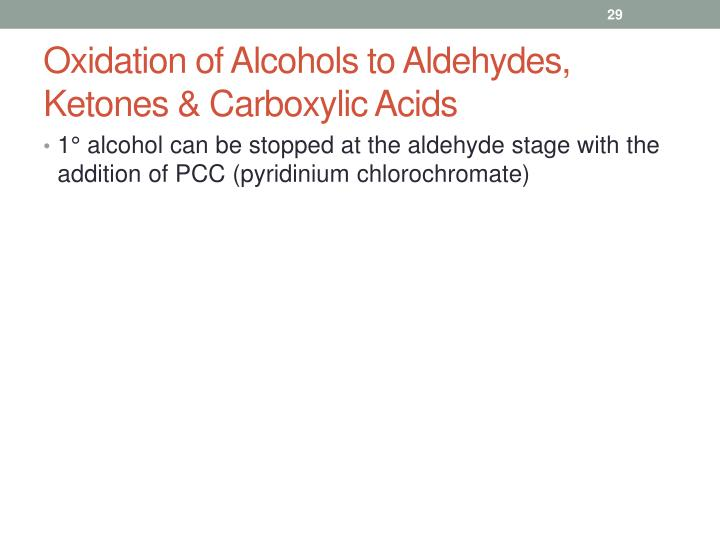 Oxidation of Alcohols to Aldehydes, Ketones & Carboxylic Acids