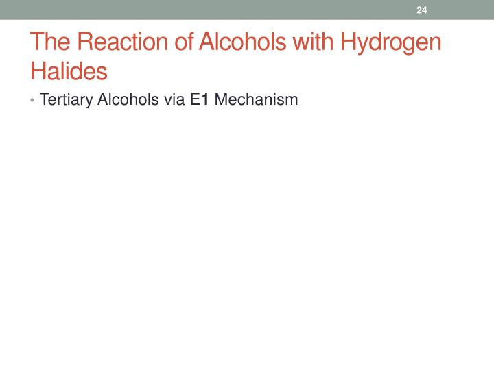 The Reaction of Alcohols with Hydrogen