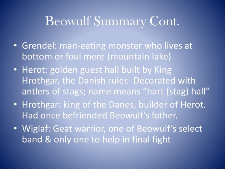Beowulf Summary Cont.