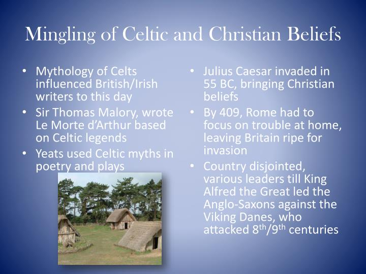 Mingling of celtic and christian beliefs