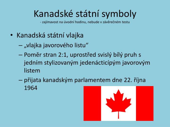 Kanadské státní symboly