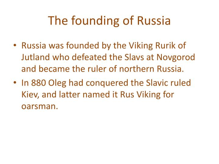 The founding of russia
