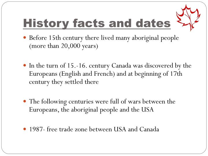 History facts and dates