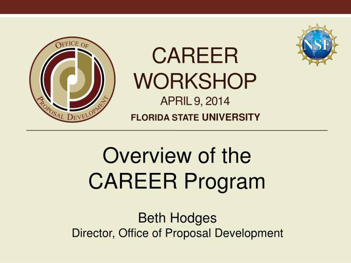 Career workshop april 9 2014