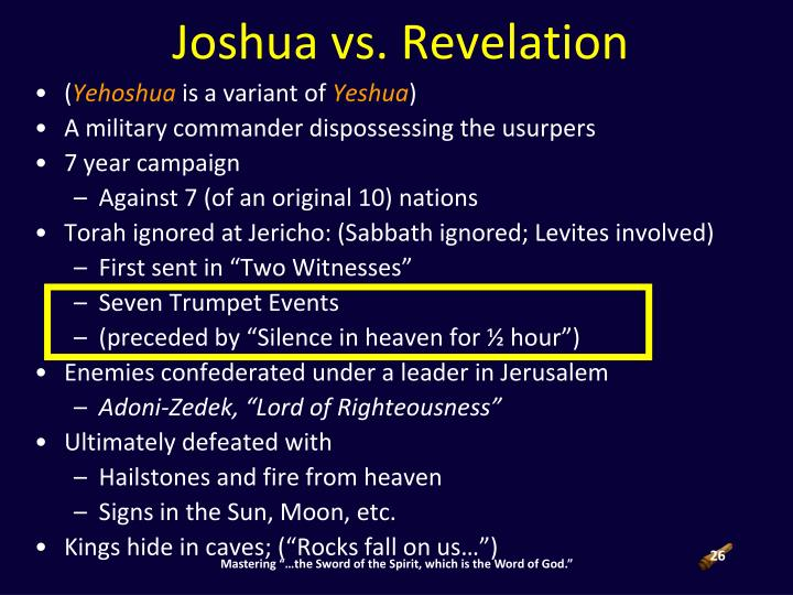 Joshua vs. Revelation