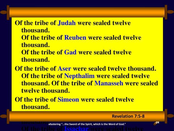 Revelation 7:5-8