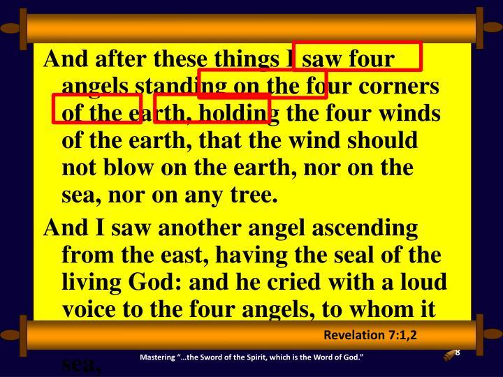 Revelation 7:1,2
