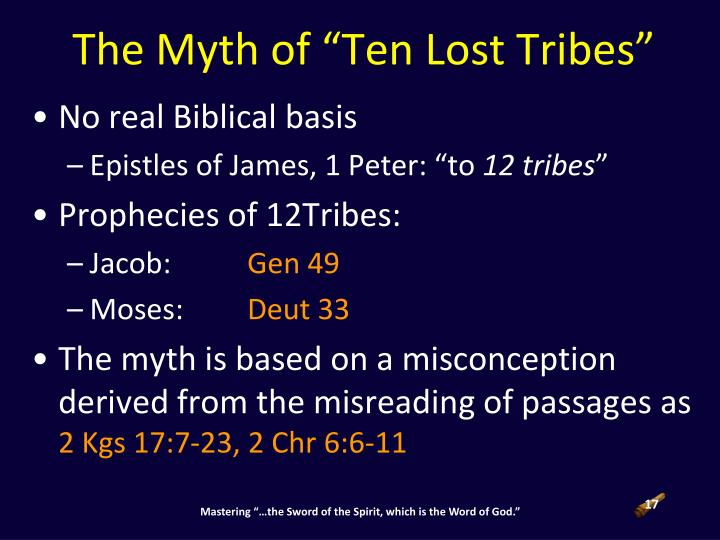 "The Myth of ""Ten Lost Tribes"""