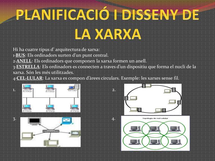PLANIFICACIÓ I DISSENY DE LA XARXA