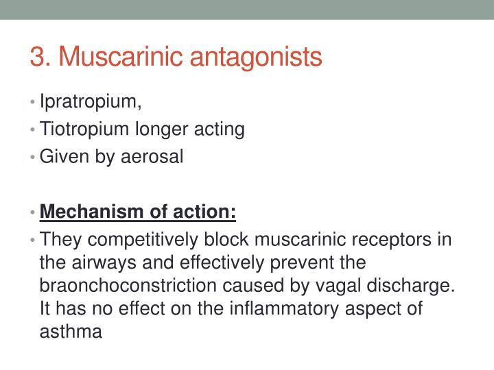 3. Muscarinic antagonists