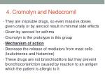 4 cromolyn and nedocromil