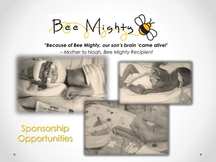 Because of bee mighty our son s brain came alive mother to noah bee mighty recipient