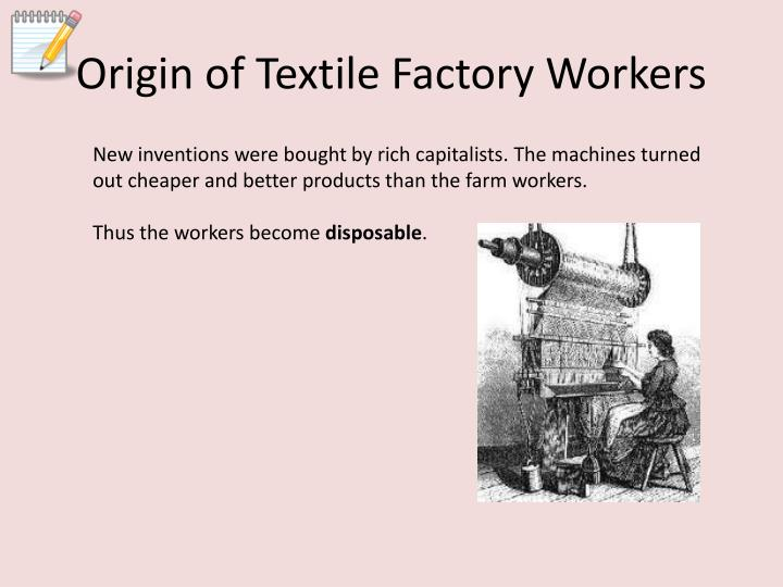 Origin of Textile Factory Workers