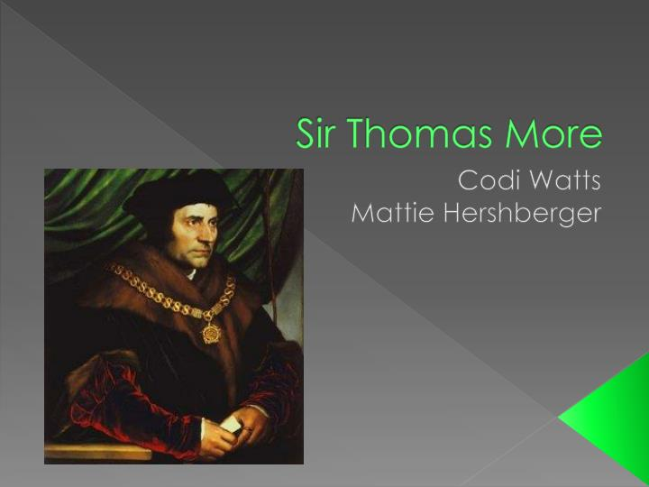 biography about thomas more essay