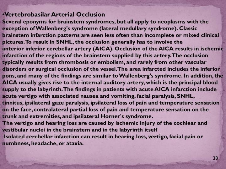 Vertebrobasilar Arterial Occlusion