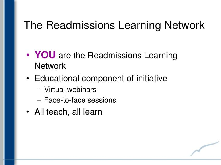 The readmissions learning network