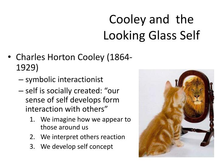 the looking glass self The looking glass self main article: looking glass self the concept of the looking glass self is undoubtedly his most famous, and is known and accepted by most psychologists and sociologists today.