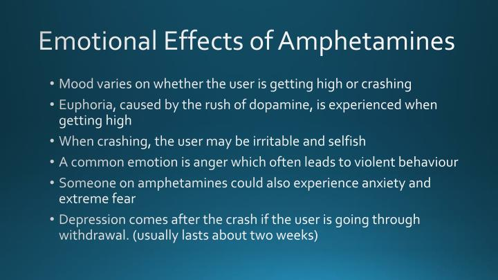 Emotional Effects of Amphetamines