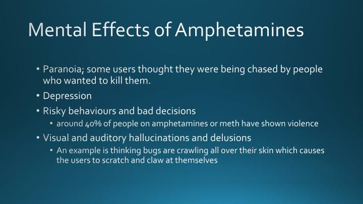 Mental Effects of Amphetamines