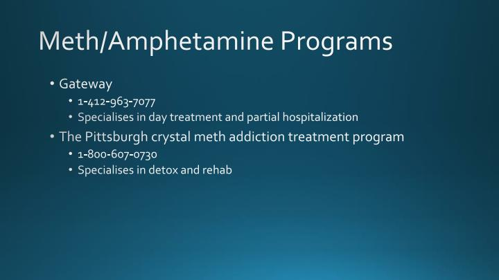 Meth/Amphetamine Programs