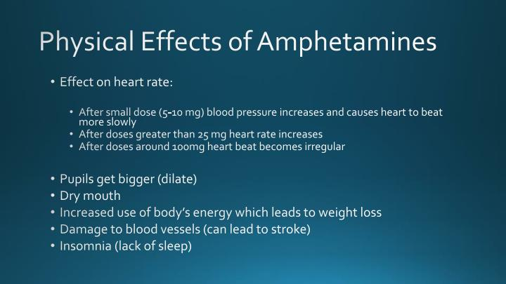 Physical Effects of Amphetamines